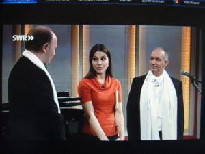 """Klaus Hammer und Dr. Clemens Kuhn bei der SWR-Fernsehsendung """"Kaffee oder Tee?"""""""